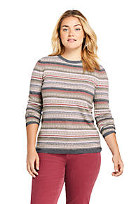 a99a6c09151 Women's Plus Size Cashmere Fair Isle Sweater