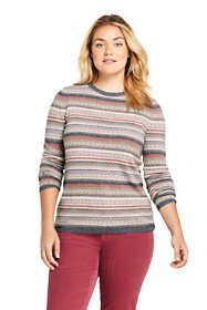 Women's Plus Size Cashmere Fair Isle Sweater