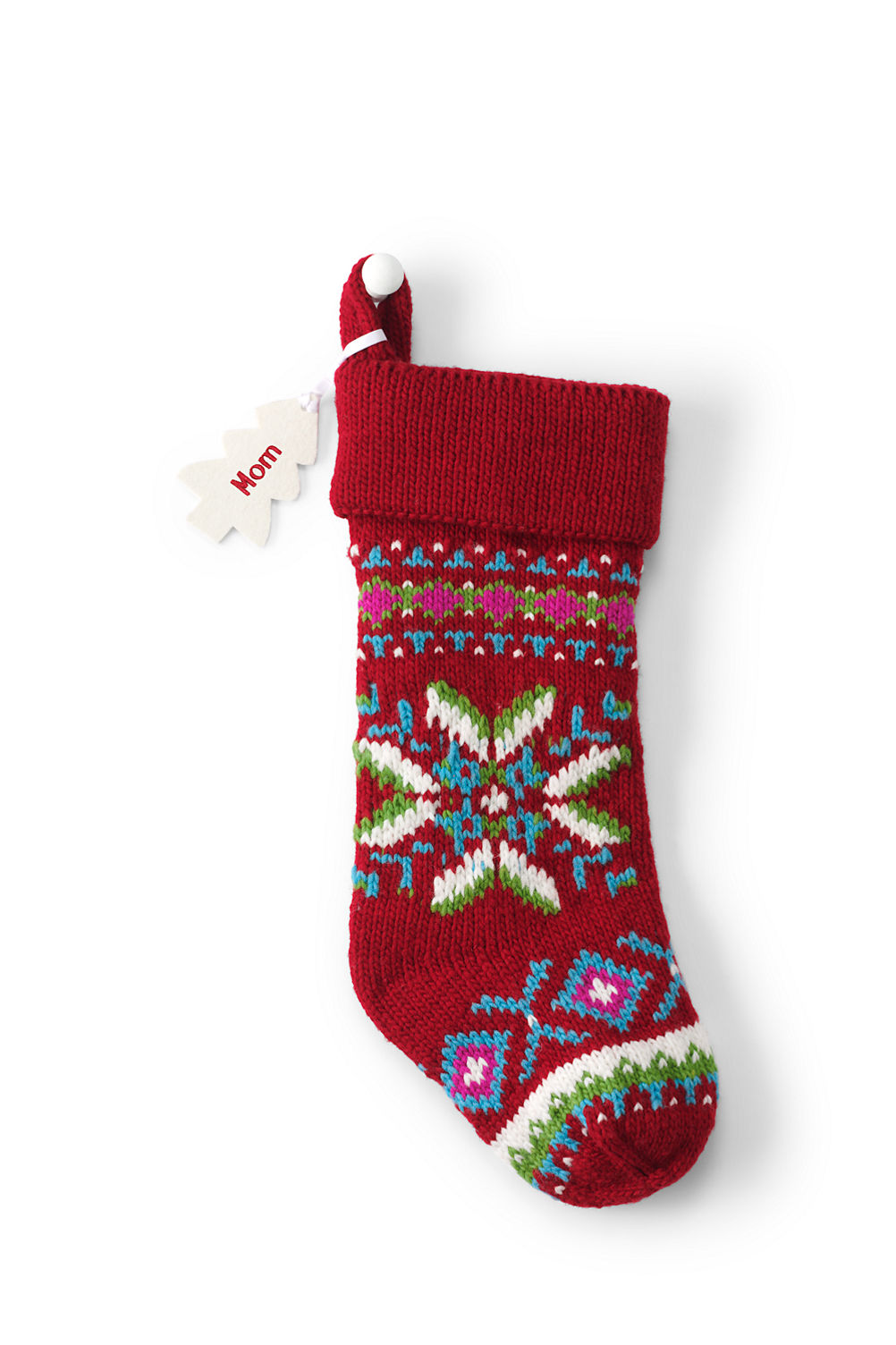 Knit Christmas Stocking from Lands\' End