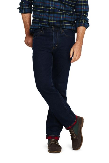 Men's Traditional Fit Flannel Lined Jeans