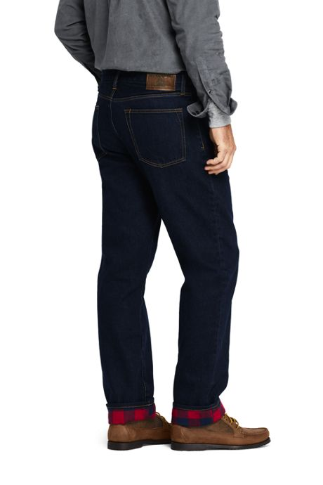 Men's Comfort Waist Flannel Lined Jeans