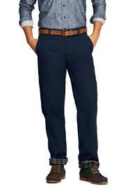 Men's Comfort Waist Flannel Lined Knockabout Chino Pants