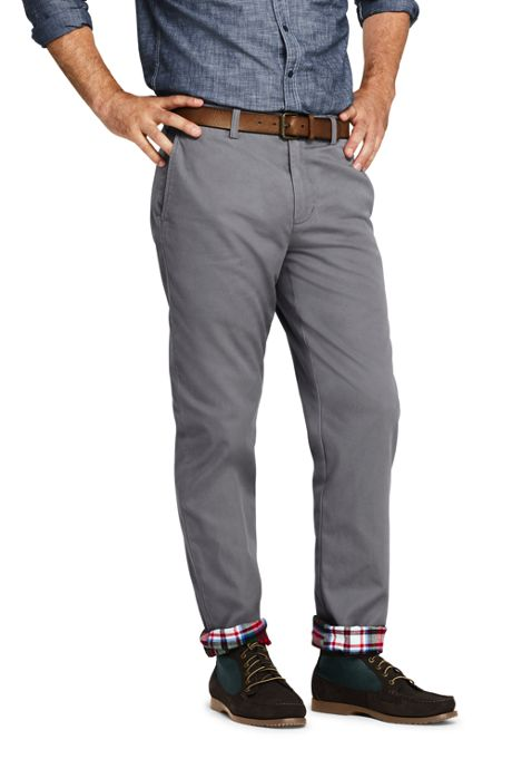 Men's Straight Fit Flannel Lined Knockabout Chino Pants