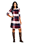 Women's Brushed Viscose Checked Shirt Dress