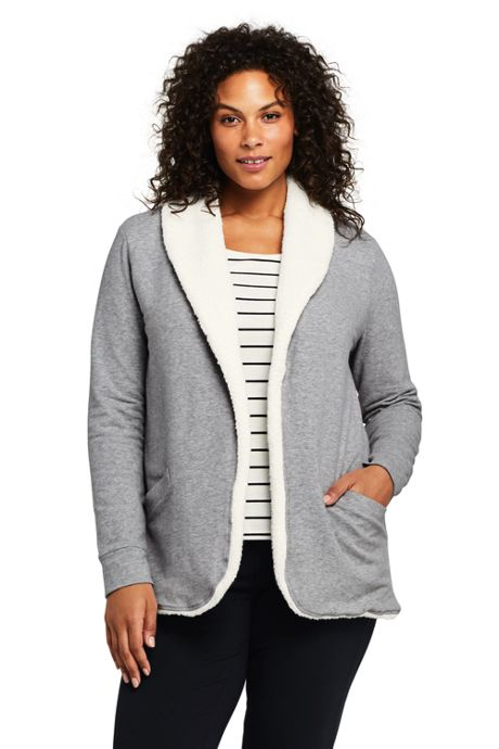 Women's Plus Size Shawl Collar Jacket Cardigan