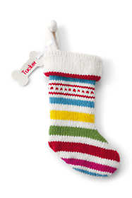 Knit Dog Christmas Stocking