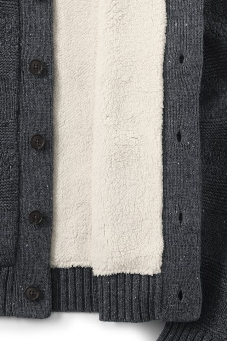 Men's Lighthouse Sherpa Lined Cardigan Sweater