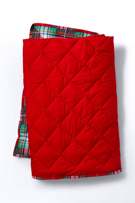 Reversible Quilted Throw Blanket