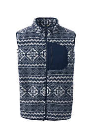 Men's Fair Isle Sherpa Fleece Hybrid Vest