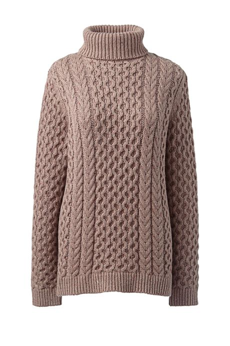Women's Plus Size Cozy Lofty Cable Turtleneck Sweater