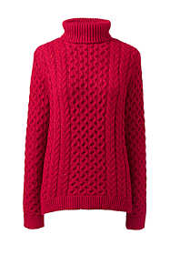 Women's Petite Cozy Lofty Cable Turtleneck Sweater