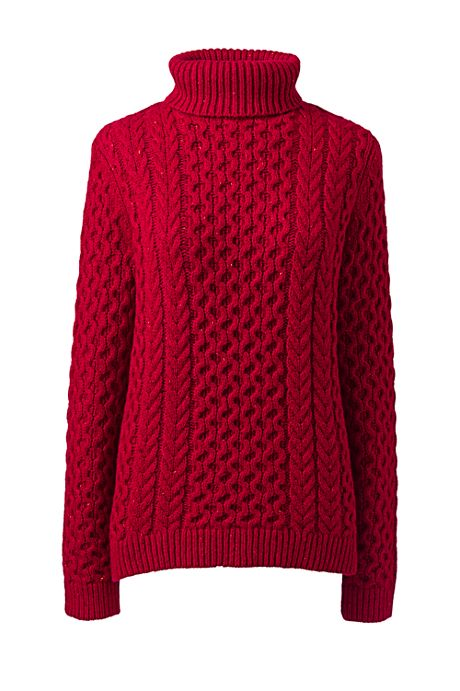 Women's Cozy Lofty Cable Turtleneck Sweater