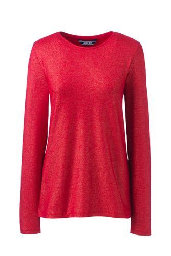 Women S Plus Size Long Sleeve Christmas T Shirt Metallic Foil From