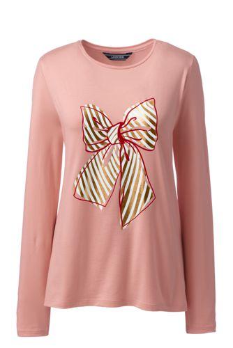 Women's Festive Graphic Lightweight Cotton/Modal T-shirt