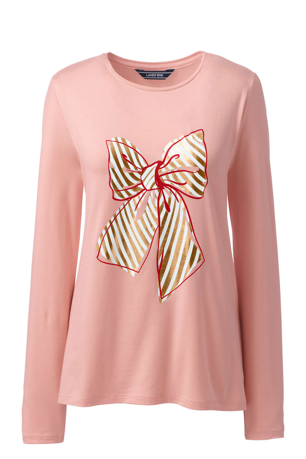 efffbffa3fe9 Women's Long Sleeve Christmas T-Shirt Graphic from Lands' End