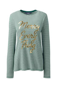 Women's Long Sleeve Christmas T-Shirt Graphic