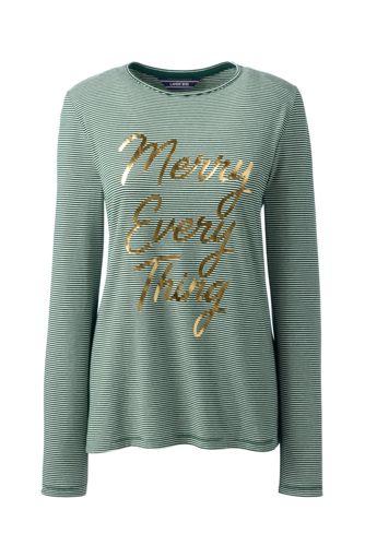 Le T-Shirt Graphique en Coton/Modal Stretch, Femme Stature Petite