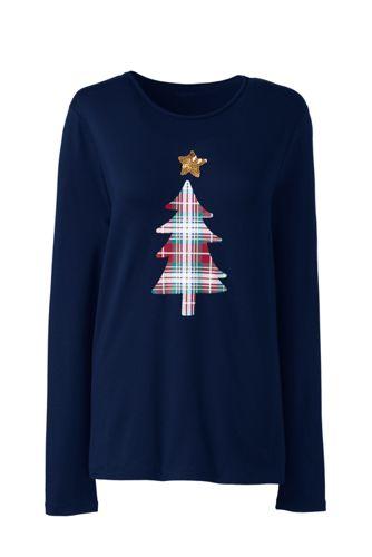 Women's Petite Festive Graphic Lightweight Cotton/Modal T-shirt