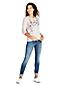 Le T-Shirt Graphique en Coton/Modal Stretch, Femme Stature Standard