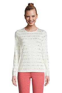 Le T-Shirt Graphique en Coton/Modal Stretch, Femme