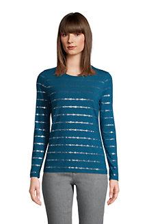 Grafik-Shirt aus Baumwoll/Modalmix für Damen