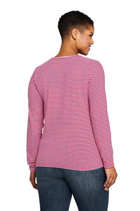Women's Plus Size Christmas Crewneck Long Sleeve T-Shirt Graphic