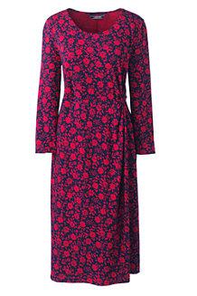 e62bc526de92 Gemustertes Jerseykleid mit Knoten-Detail für Damen