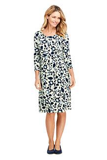 Gemustertes Jerseykleid mit Knoten-Detail für Damen 1994ff5766