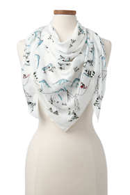 Women's Skiing Cows Scarf