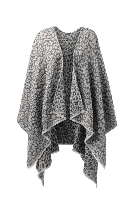Women's Print Reversible Shawl Wrap