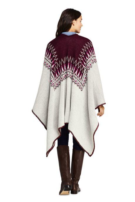 Women's Chalet Knit Shawl Wrap