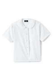 Third Party Product - Girls Short Sleeve Peter Pan Collar Poplin Blouse