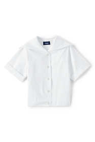 Third Party Product - Girls Short Sleeve Button Front Sailor Blouse