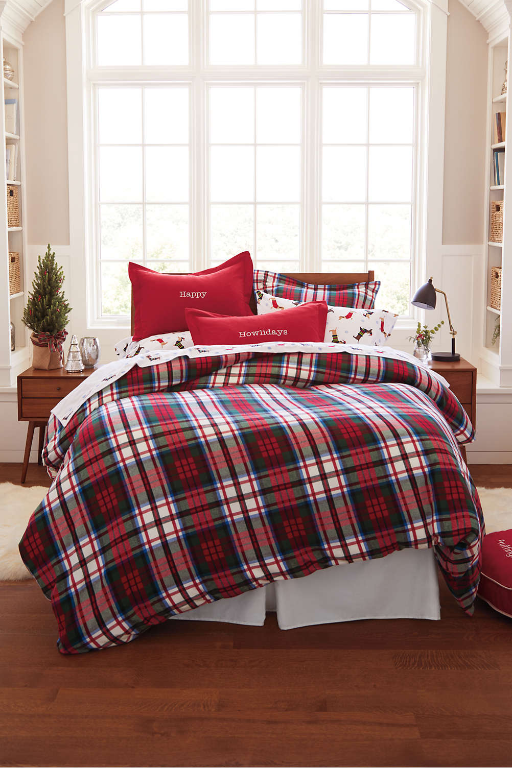 Velvet flannel plaid duvet cover from lands end