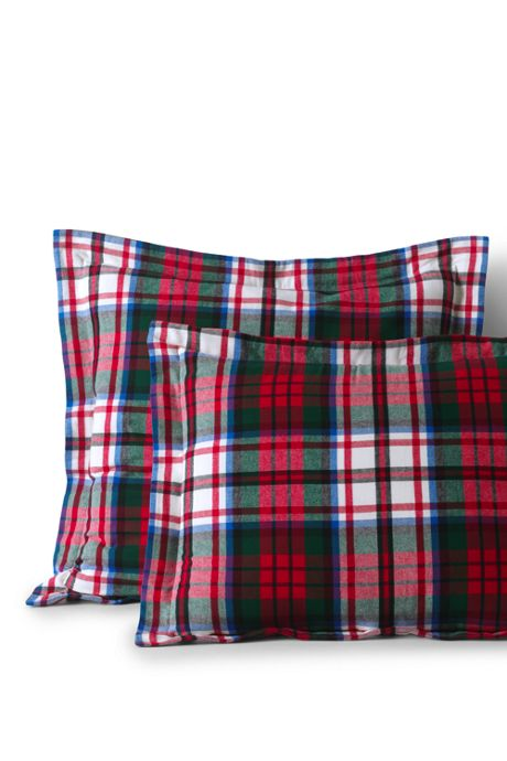 5 oz. Velvet Flannel Plaid Shams