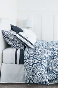 No Iron Supima Medallion Duvet Cover