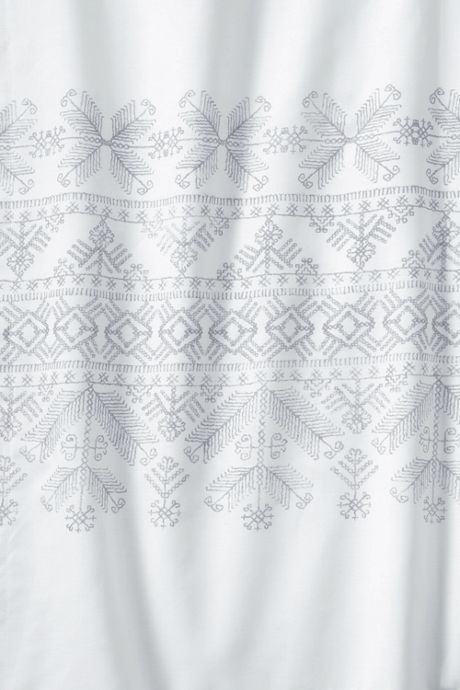 200 Italian Percale Fair Isle Printed Border Shams