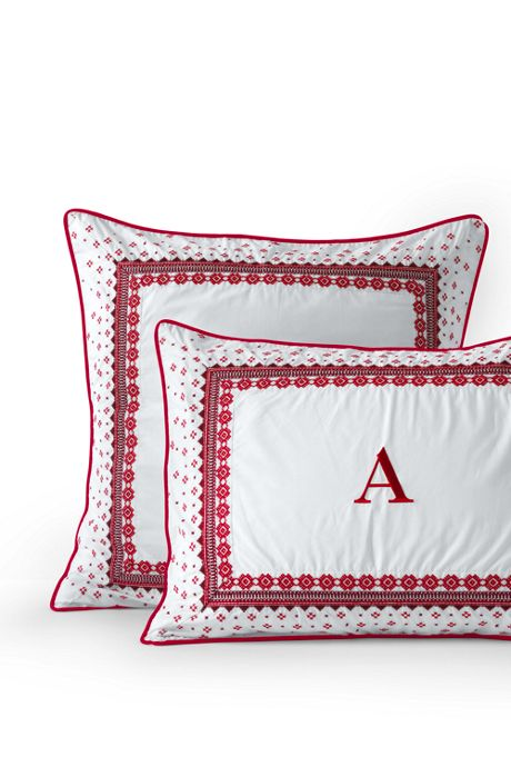200 Percale Embroidered Shams