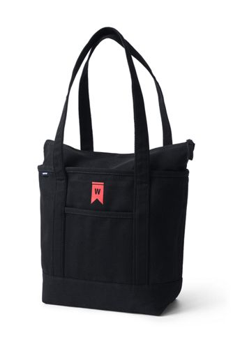 Medium Zip Top Canvas Tote Bag