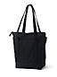 Mittelgroße farbige Canvastasche mit Reißverschluss und langen Griffen