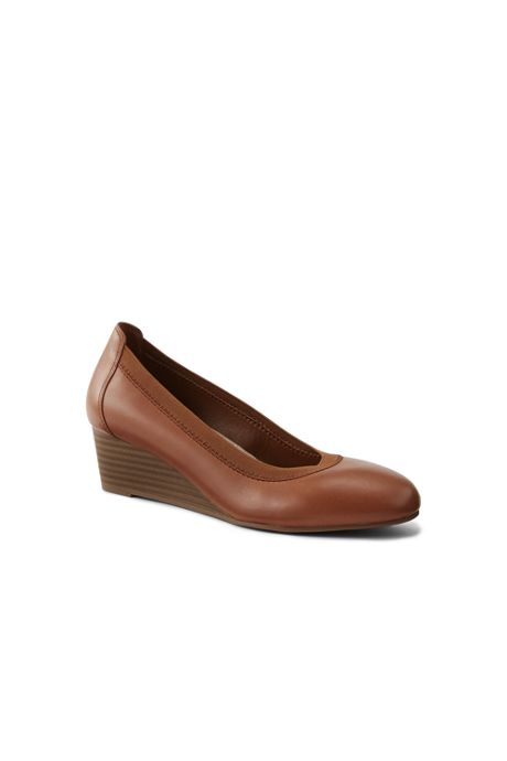 Women's Leather Everyday Comfort Elastic Wedges