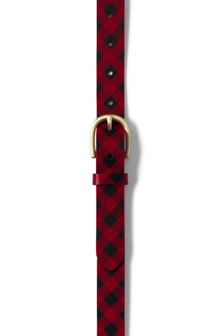 Women's Classic Plaid Belt