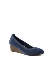 Women's Suede Everyday Comfort Elastic Wedges