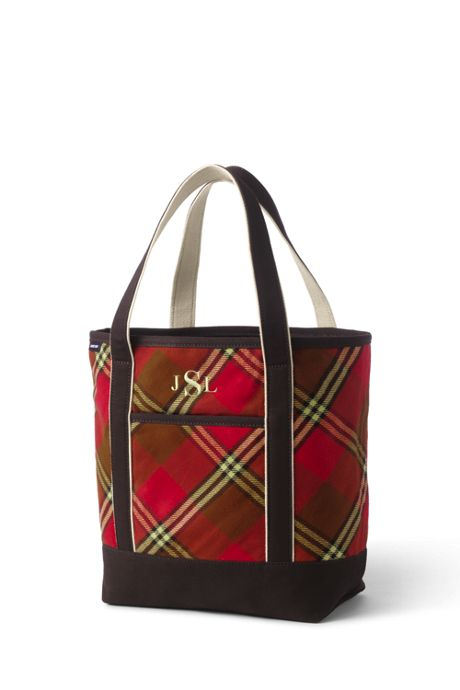 Flannel Medium Open Top Tote Bag