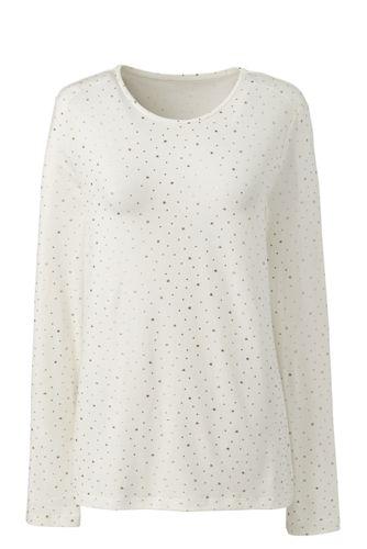 Le T-Shirt Imprimé en Coton/Modal Stretch, Femme Grande Taille