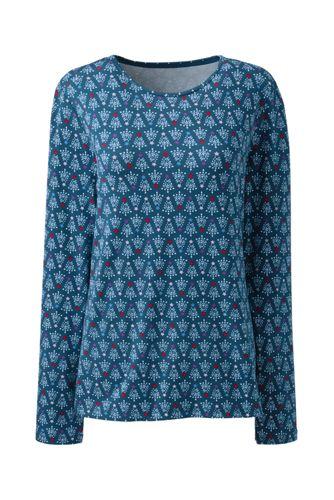 Women's Petite Lightweight Cotton/Modal Printed T-shirt