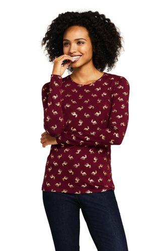 Women's Plus Lightweight Cotton/Modal Printed T-shirt