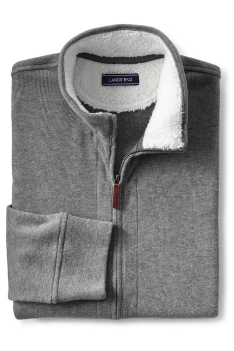 Men's Sherpa Collar Bedford Rib Full Zip Sweater