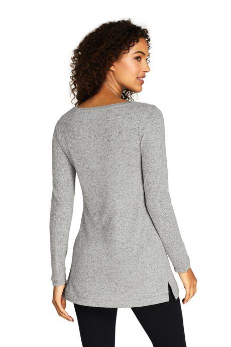 Women's Petite Long Sleeve Brushed Jersey Tunic