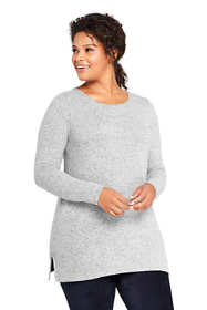 Women's Plus Size Long Sleeve Brushed Jersey Tunic